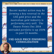 Recent market action may be forming a key reversal in the US$ gold price and the Australian gold industry is performing very well. The Dawes Points Dec 2014 untraded portfolio is up 253% in past 53 months.